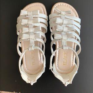White Toddler girl sandals
